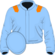 Light blue, orange epaulets