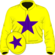 Yellow, purple star and star on cap