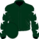 Dark green, white stars on sleeves